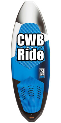 CWB Ride Wakesurf Board for Beginners, Comes with a Wakesurfing Rope