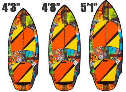 Ronix Lunatic Wakesurfer Sizes