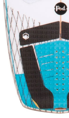 Liquid Force Pod Wakesurf Board with Innegra on Top of Board to Absorb Impact and Provide Support